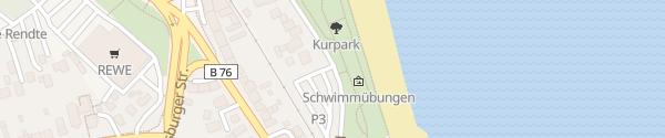 Karte Parkplatz Kurpark Eckernförde