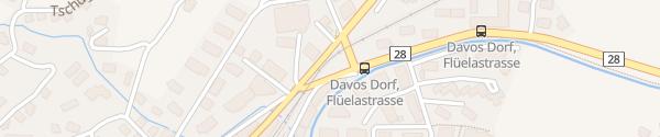 Karte BMW Autohändler Nino Unold Davos Dorf