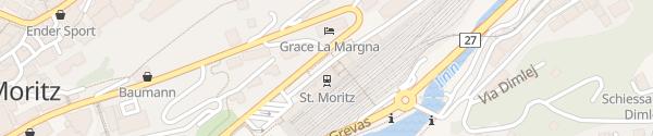 Karte Bahnhof St.Moritz