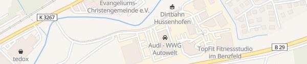 Karte WWG Autowelt Schwäbisch Gmünd