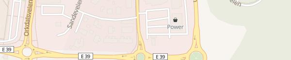 Karte REMA 1000 Markt Orkanger