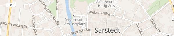 Karte Parkplatz Innerstebad Sarstedt