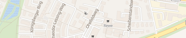 Karte Rewe, Aldi, Rossmann Hannover