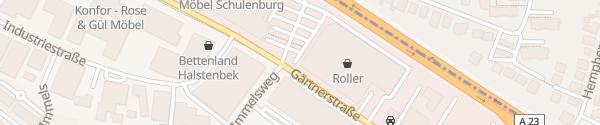 Karte Roller Möbel Halstenbek