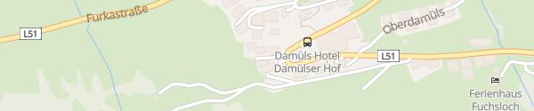 Karte Hotel Lucia Damüls