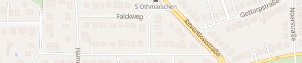 Karte Falckweg Hamburg