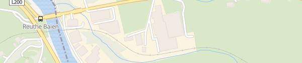 Karte Baumarkt Wälderhaus Bezau
