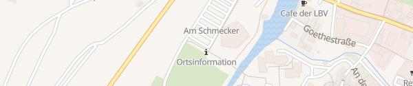 Karte Großparkplatz Tauberwiesen Weikersheim