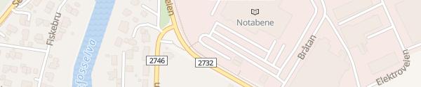 Karte Eiker Senter Hokksund