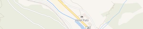 Karte Hotel Palü Pontresina