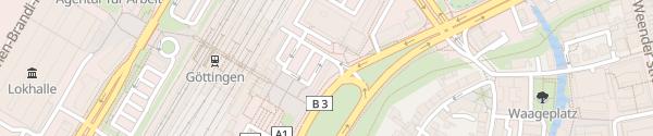 Karte Bahnhof Göttingen