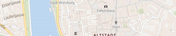 Karte Marktgarage Würzburg