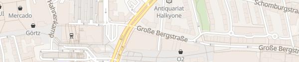 Karte Schnellladesäule Große Bergstraße Hamburg