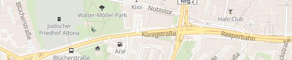Karte Königstraße Hamburg