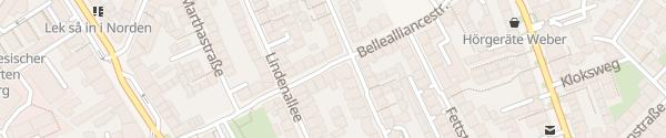 Karte Bellealliancestraße Hamburg