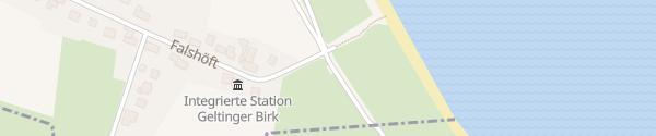 Karte Parkplatz Strand Nieby