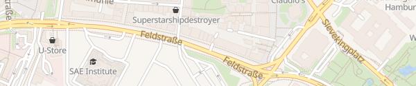 Karte Ladesäule Feldstrasse Hamburg