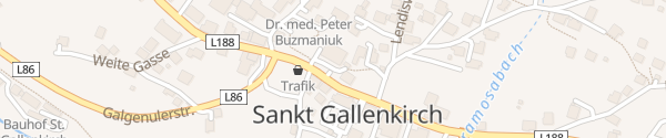 Karte Gemeindeamt St. Gallenkirch