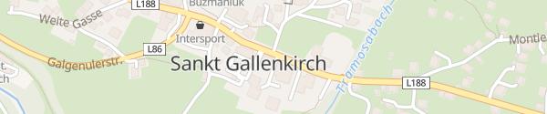 Karte Appart Gastauer Sankt Gallenkirch