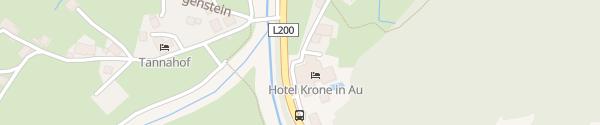 Karte Hotel Krone Au