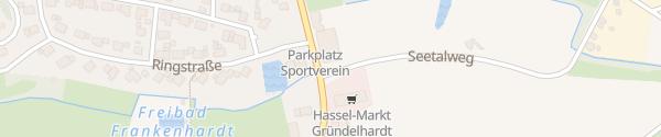 Karte Sporthalle Gründelhardt Frankenhardt