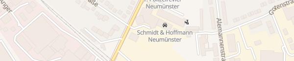 Karte VW Schmidt & Hoffmann Neumünster