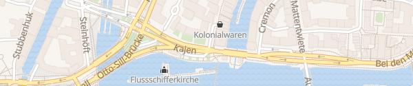 Karte Schnellladesäule Deichstraße Hamburg