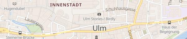 Karte E-Bike Ladesäule ServiceCenter Stadtwerke Ulm